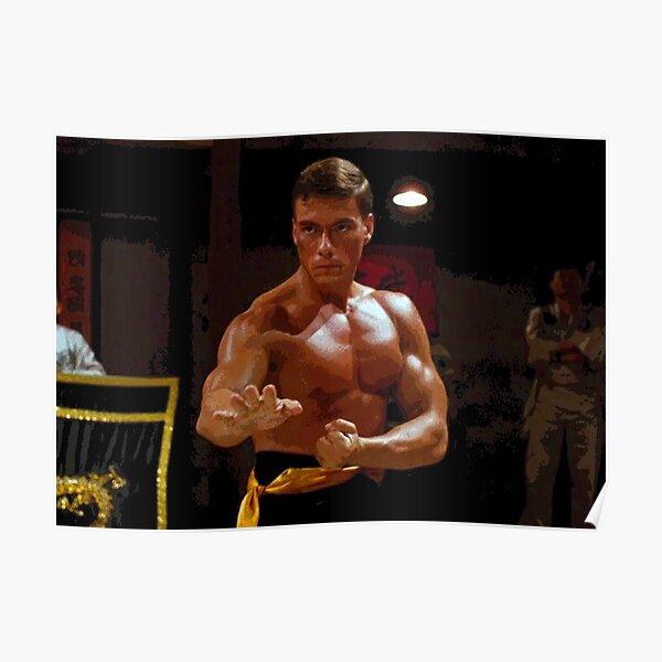 Jean Claude van Damme combattant dans l'abstrait de kumite Bloodsport Poster