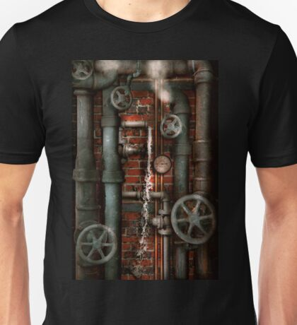 Steampunk - Plumbing - Pipes and Valves Unisex T-Shirt