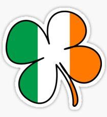 Pegatina Trébol de bandera de Irlanda Trébol de cuatro hojas irlandés