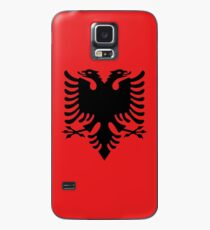 Albanian national flag in authentic color and scale. Case/Skin for Samsung Galaxy