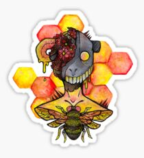 honey bee.  Sticker