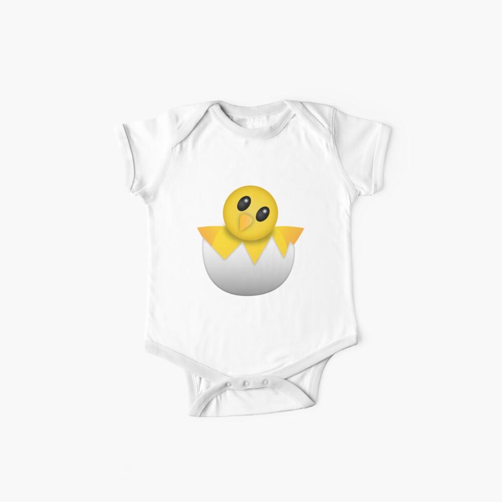 Brütendes Babyküken Emoji Baby Bodys