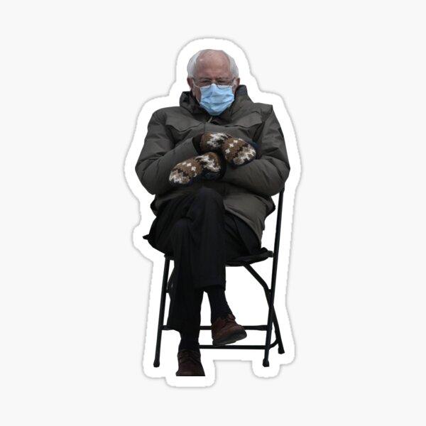 Bernie Inauguration Mittens Meme Sticker