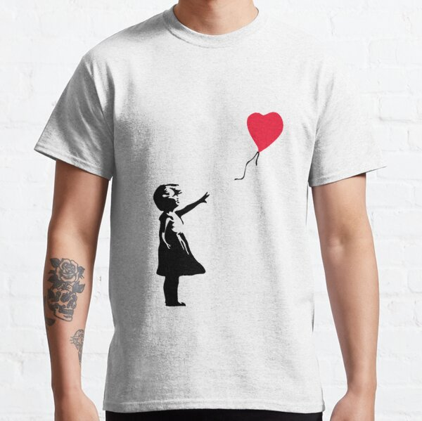 """Girl With Red Balloon - Banksy """"self-destructs"""" painting Classic T-Shirt"""