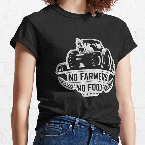No Farmers No Food Patch Classic T-Shirt