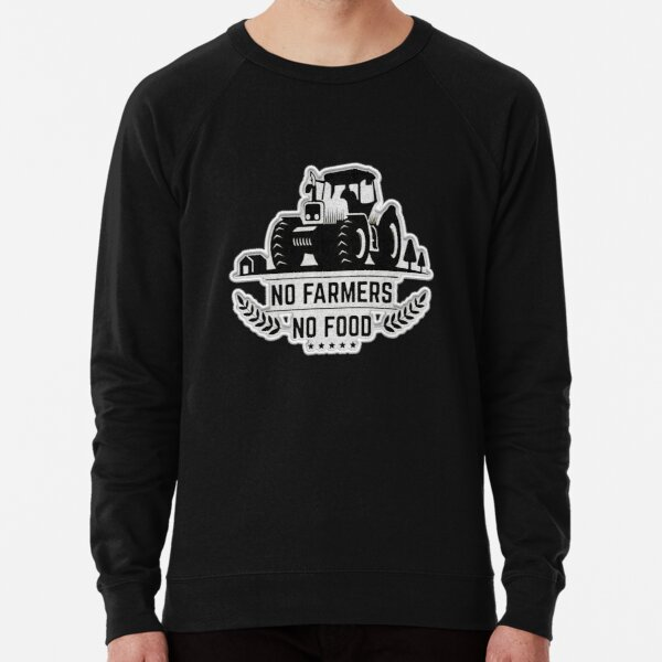 No Farmers No Food Patch Lightweight Sweatshirt