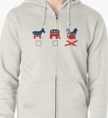 The Cat Party Zipped Hoodie