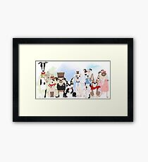 Silly Dogs Cartoon Pets  Framed Print