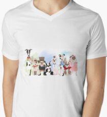 Silly Dogs Cartoon Pets  Men's V-Neck T-Shirt