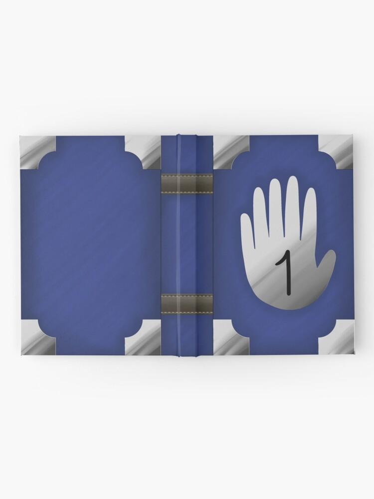 Alternate view of Gravity Falls Inspired Handprint Journal 1, BLUE Hardcover Journal
