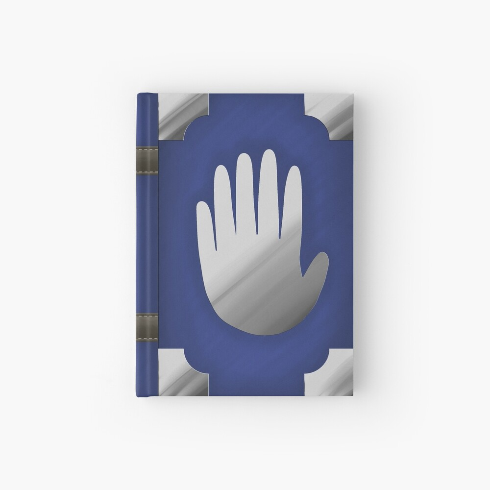 Gravity Falls Inspired Handprint Journal, BLUE Hardcover Journal