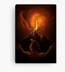 Dragon Born, Volcano Dragon Canvas Print