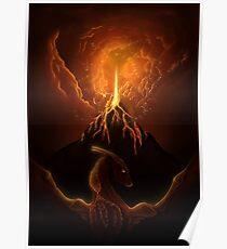 Dragon Born, Volcano Dragon Poster
