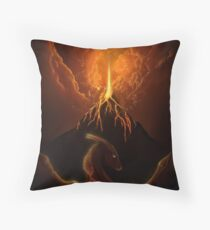 Dragon Born, Volcano Dragon Throw Pillow