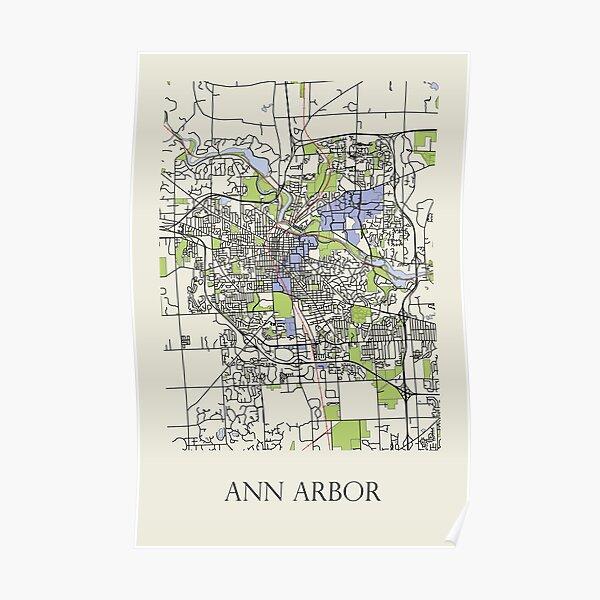 Map of Ann Arbor Poster