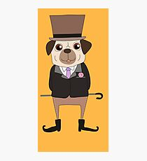Funny Cartoon Pets Pug Dog Photographic Print
