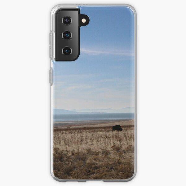 buffalo on antelope island Samsung Galaxy Soft Case