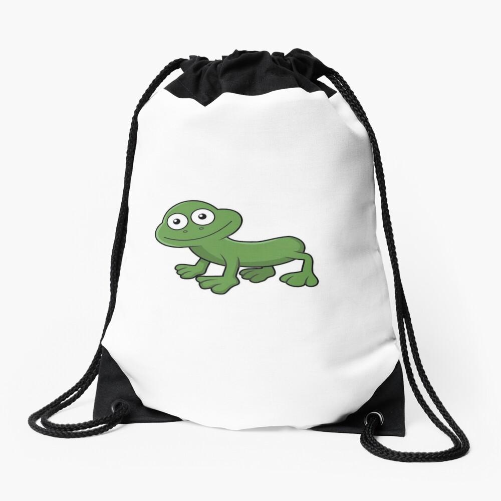 Sausage Frog Drawstring Bag