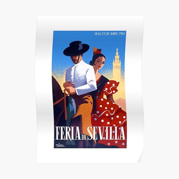 1961 SPAIN Feria De Sevilla Poster Poster