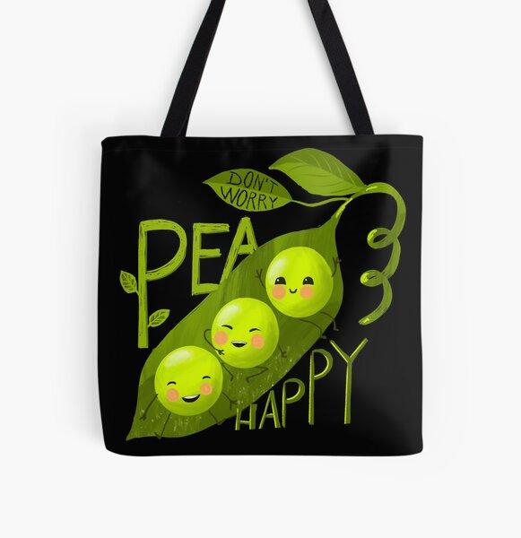 Pea happy All Over Print Tote Bag