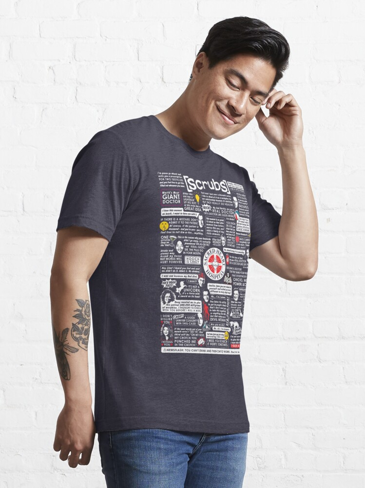 Alternate view of Wise Words of Scrubs Essential T-Shirt