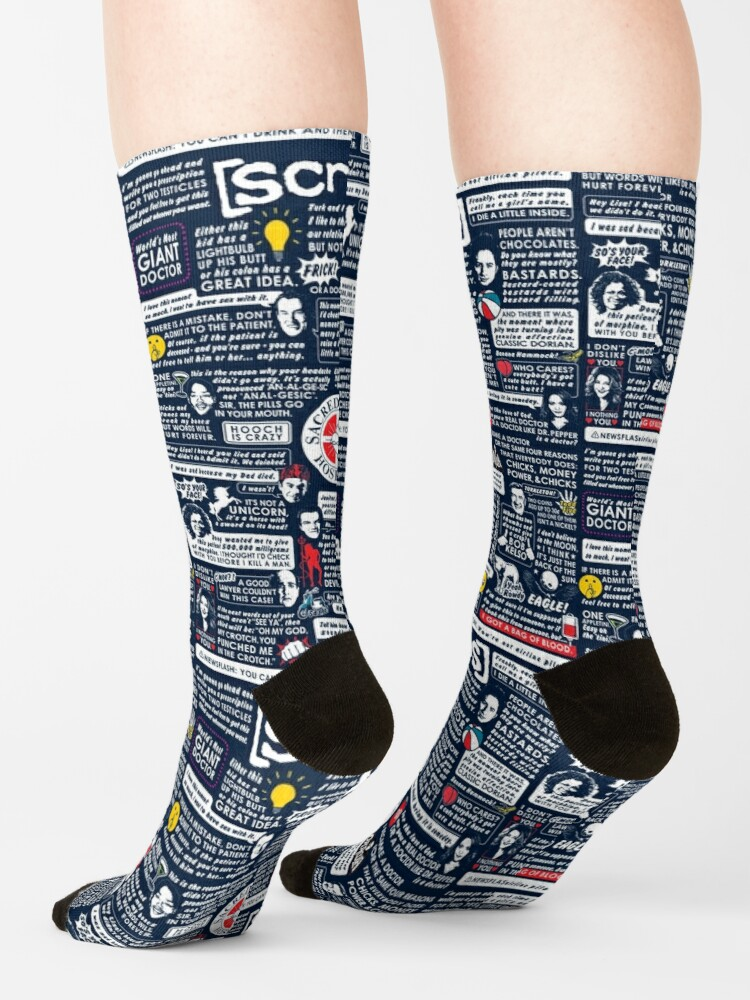 Alternate view of Wise Words of Scrubs Socks