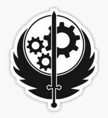 Emblem der Bruderschaft des Stahls (Schwarz) Sticker