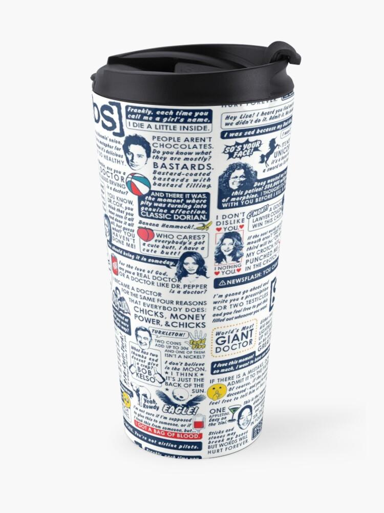 Alternate view of Wise Words of Scrubs (Variant) Travel Mug