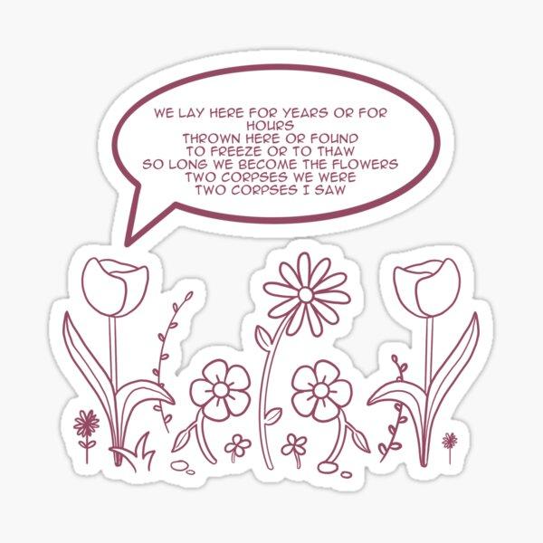 In a week lyrics sticker Sticker