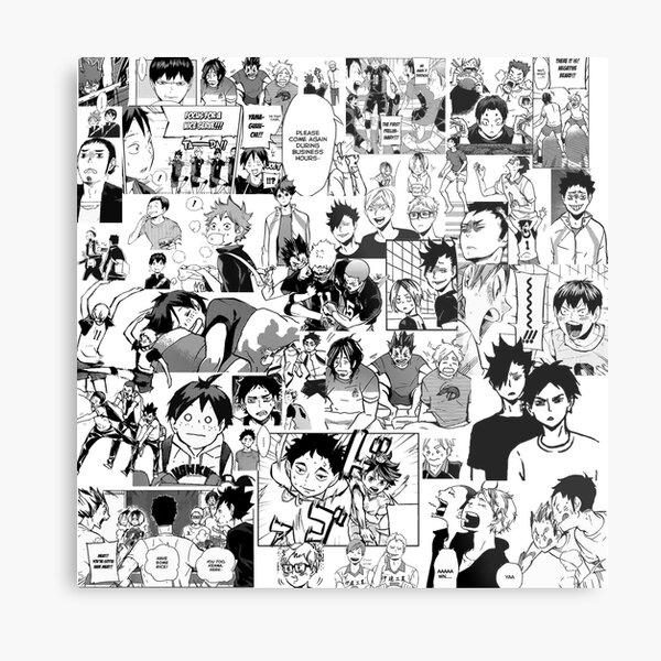 Haikyuu!! - Manga Collage Metal Print