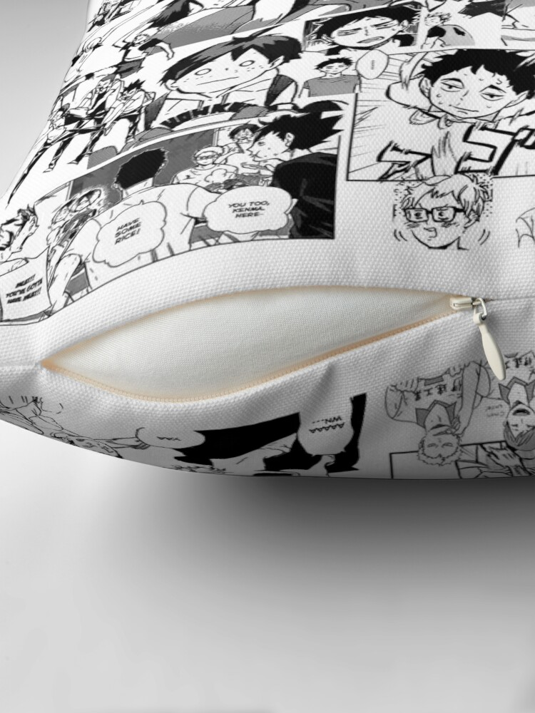 Alternate view of Haikyuu!! - Manga Collage Throw Pillow