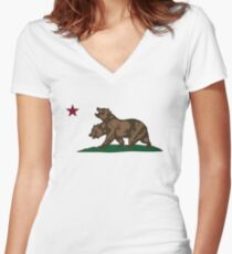 NCR Logo - Fallout New Vegas Women's Fitted V-Neck T-Shirt