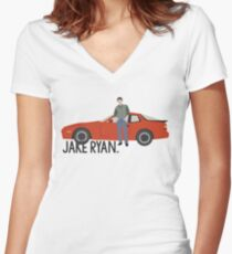 Sixteen Candles - Jake Ryan Women's Fitted V-Neck T-Shirt