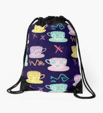Alice's Mad Tea Party Drawstring Bag