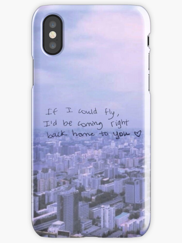 quotone direction if i could fly lyric phone casequot iphone