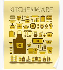 retro kitchenware Poster