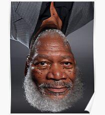 Morgan Freeman Upside Down. Poster