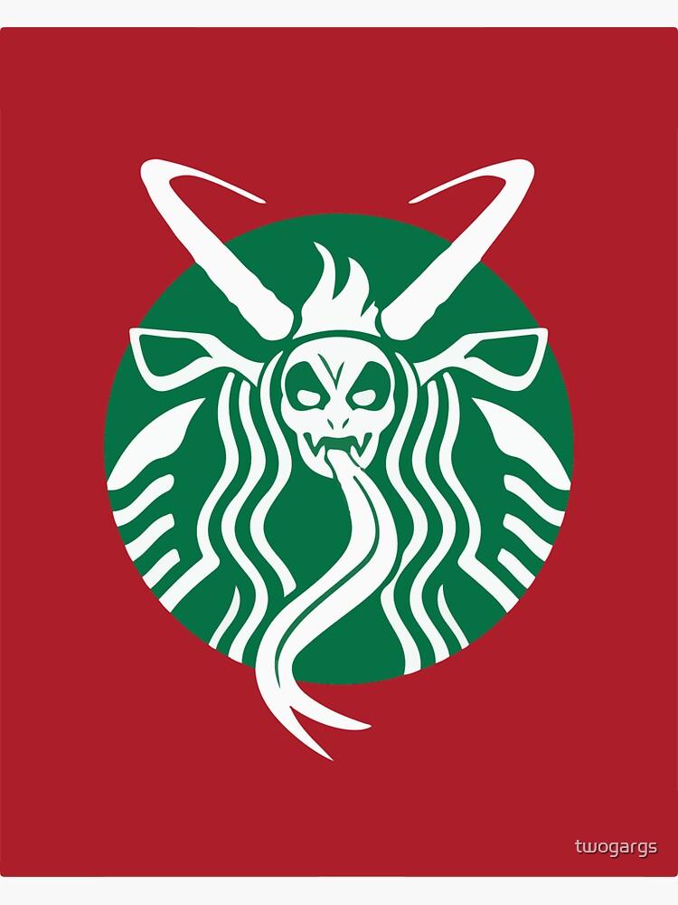 Krampuspresso - Caffeine Demon (RED) by twogargs