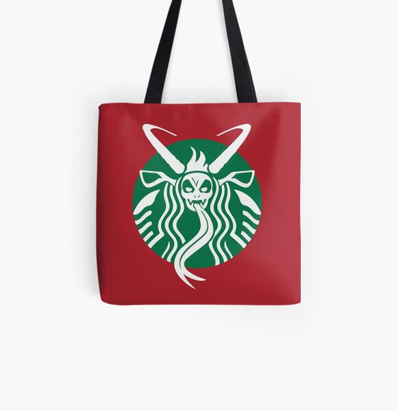 Krampuspresso - Caffeine Demon (RED) All Over Print Tote Bag