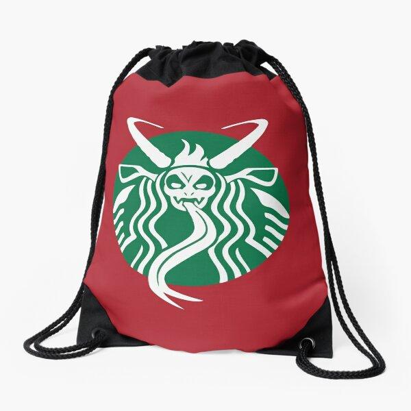 Krampuspresso - Caffeine Demon (RED) Drawstring Bag