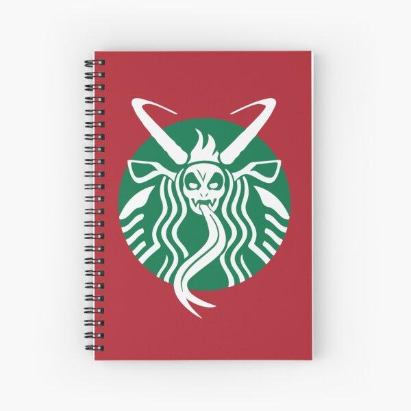 Krampuspresso - Caffeine Demon (RED) Spiral Notebook
