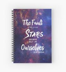 The Fault is Not In Our Stars Spiral Notebook