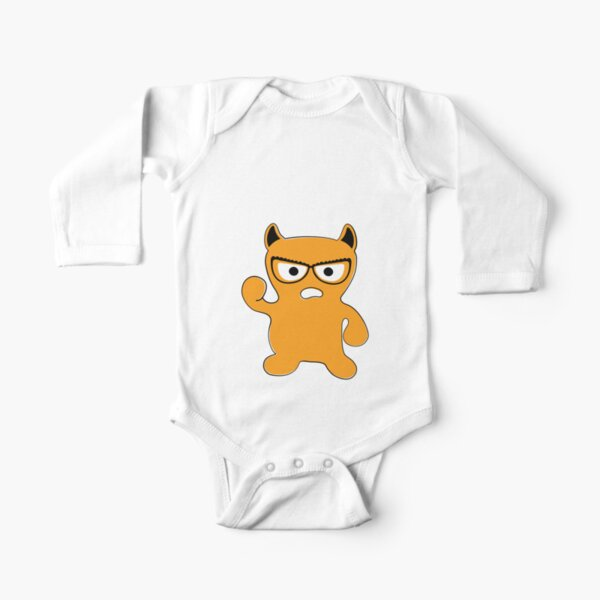 Monster with Glasses Long Sleeve Baby One-Piece
