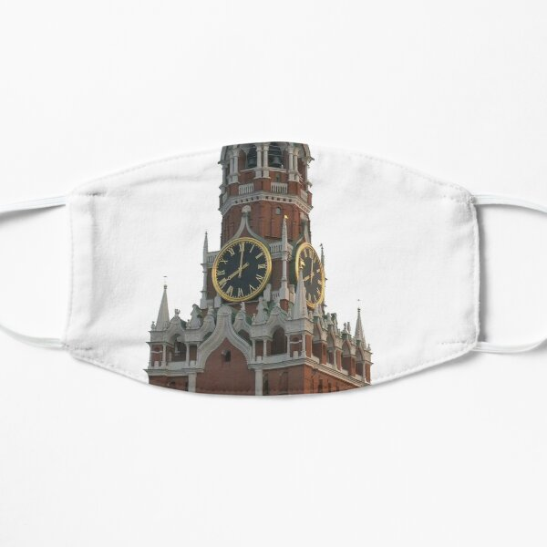 The famous Spasskaya tower of Moscow Kremlin, Russia Mask