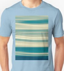 Retro effect coastal abstract wavy clouds over horizon T-Shirt