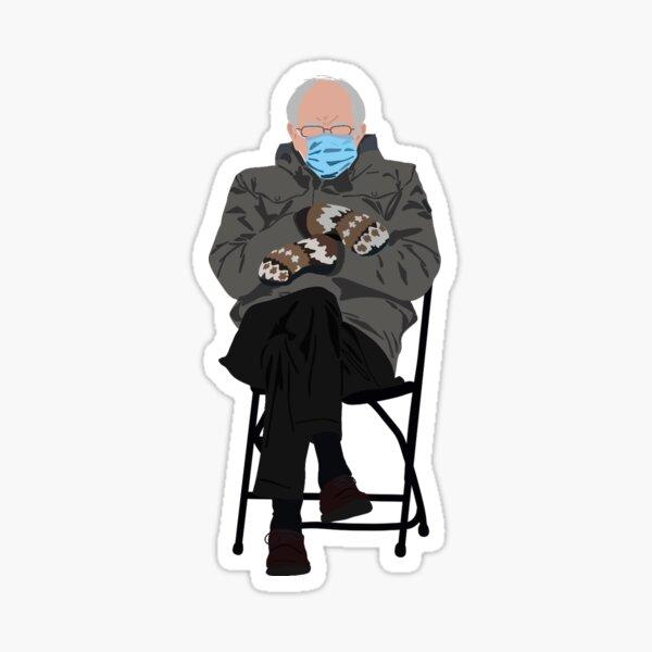 bernie at inauguration Sticker