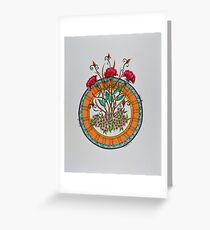 Mandala/9 - Flowers/2 Greeting Card
