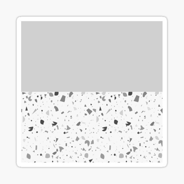 Gris terrazzo Sticker