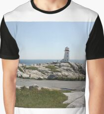 Peggy's Cove Lighthouse Graphic T-Shirt