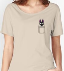Pocket Jiji Women's Relaxed Fit T-Shirt